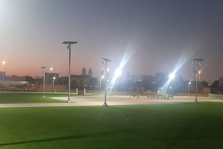 Playground-solar-flood-lighting