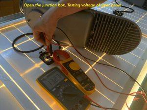 testing-voltage-of-solar-panel