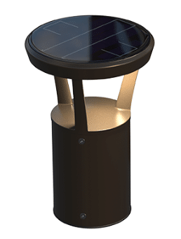 solar bollard light good for retrofit projects