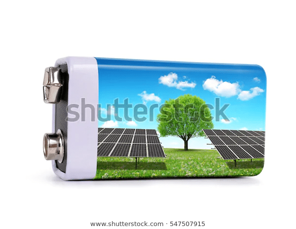 battery solar panels isolated on white