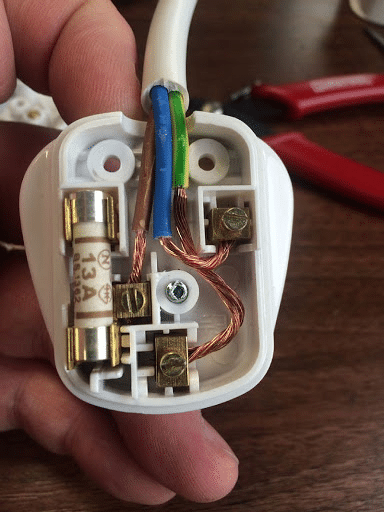 fixing unscrewed wires