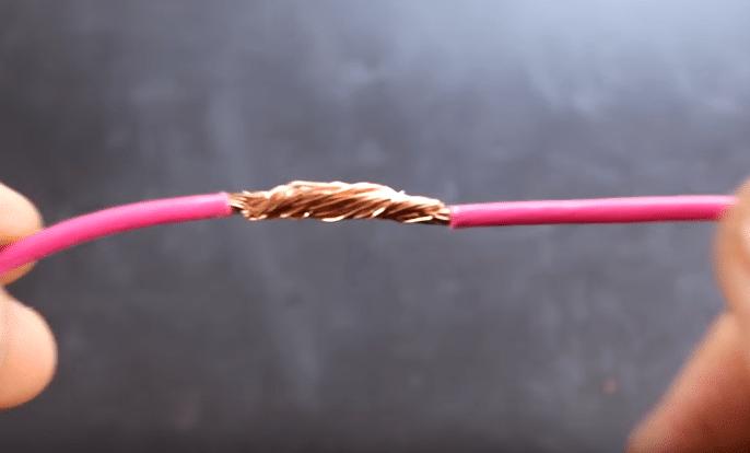 intermesh two strands together prior to soldering