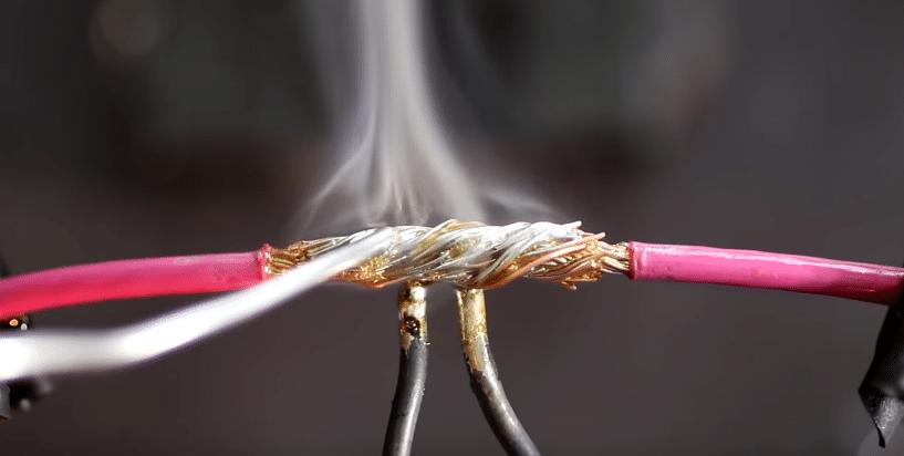 soldering two broken wires together