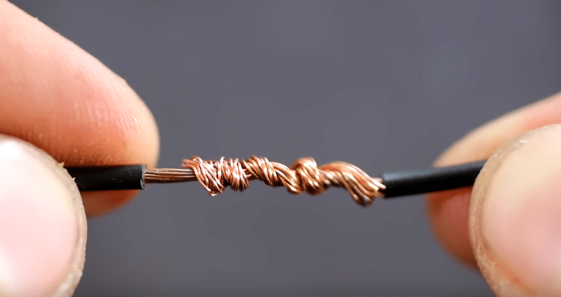 twisting wire ends together prior to soldering