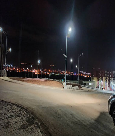 60w 80w solar street light project