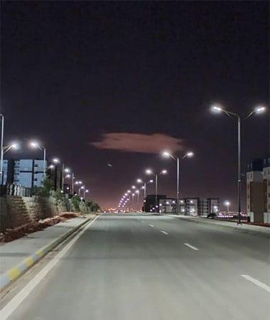 100w all in one solar street light project in Algeria